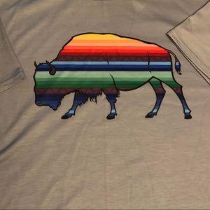 NWT Serape Buffalo S/S Top Western